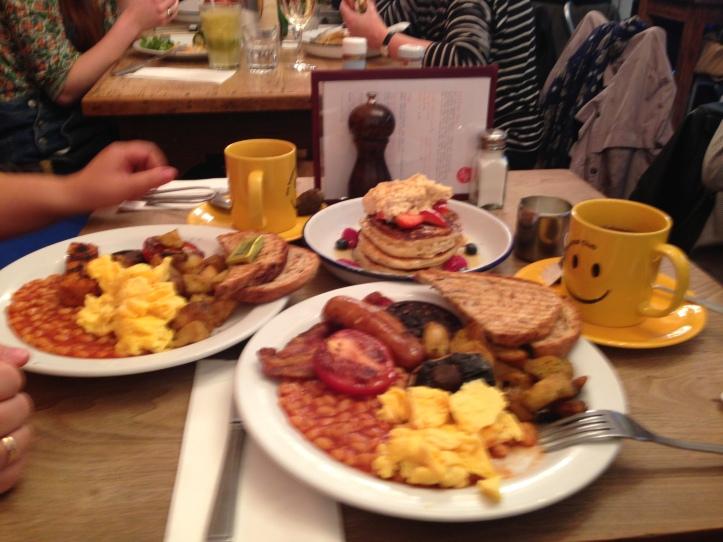 Angel istasyonu-Cafe Breakfast-İngiliz Kahvaltısı